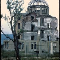 Japan, 1951:  Atomic Bomb Dome, Hiroshima, photographed in 1950