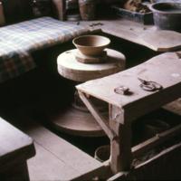 Tamba pottery, view 08., wheel in the Ichino workshop