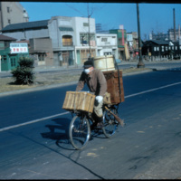Japan, 1951:  Bicycles frequently used for transportation