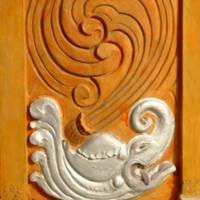 Ellora, Datta Temple, silver makara