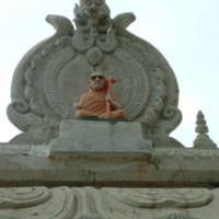 Ellora, Datta Temple, ascetic figure on roof